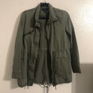 Forever 21 military green jacket coat